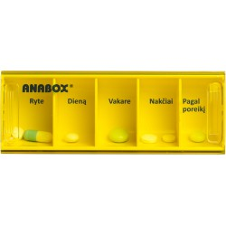 Dėžutė vaistams 1 dienai ANABOX